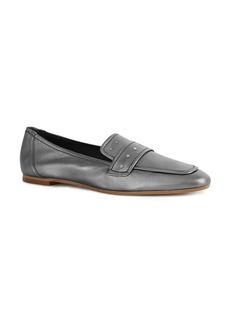 REISS Women's Elba Metallic Leather Loafers