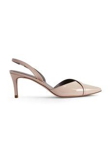 REISS Women's Ivy Patent Leather Mid Heel Slingback Pumps