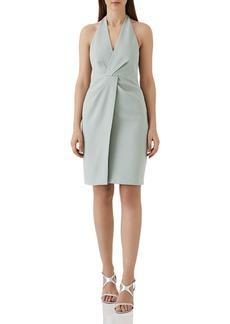 REISS Yuma Twist-Front Halter Dress