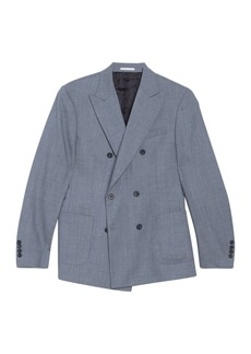 Reiss Worley Peak Collar Double Breasted Jacket