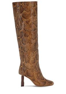 Rejina Pyo 80mm Snake Print Leather Tall Boots