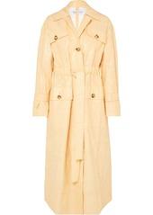 Rejina Pyo Ava Crinkled Vinyl Trench Coat