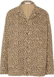 Rejina Pyo Billie Leopard-print Cotton-twill Jacket