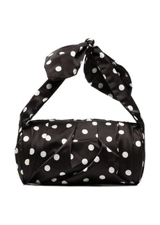 Rejina Pyo black and white nane polka dot satin clutch