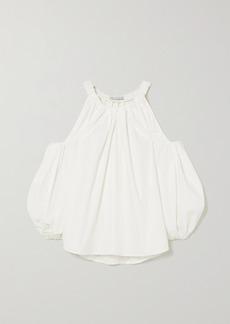 Rejina Pyo Carmen Cold-shoulder Gathered Organic Cotton Top