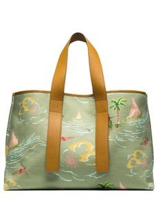 Rejina Pyo Carter Hawaiian print tote bag