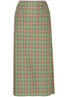 Rejina Pyo check midi skirt