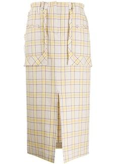 Rejina Pyo check print skirt