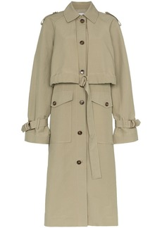Rejina Pyo long sleeve cotton blend belted trench coat