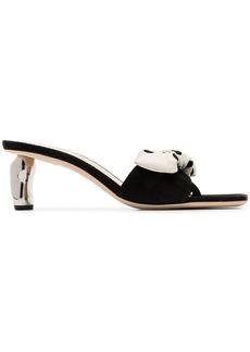 75585a23143 Rejina Pyo blue Connie 20 leather metal heel slingback pumps