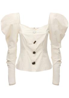 Rejina Pyo Odelia Ruffled Cotton Poplin Top