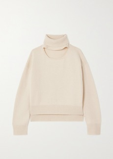Rejina Pyo Peyton Cutout Cashmere And Wool-blend Turtleneck Sweater