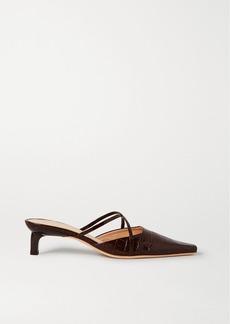 Rejina Pyo Phoebe Croc-effect Leather Mules