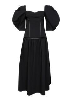 Rejina Pyo - Women's Louisa Puff-Sleeve Cotton Midi Dress - Black - Moda Operandi