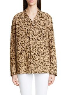 Rejina Pyo Billie Leopard Print Cotton Jacket