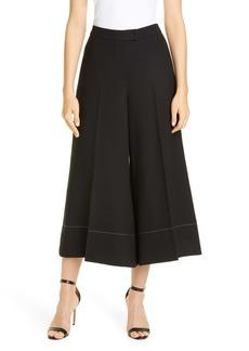 Rejina Pyo Dora Wool Blend Crop Wide Leg Trousers