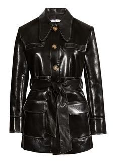 Rejina Pyo Felix Belted Faux Leather Jacket