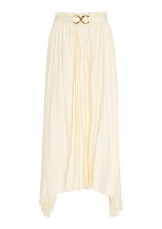 Rejina Pyo Kiera Pleated Satin Midi Skirt