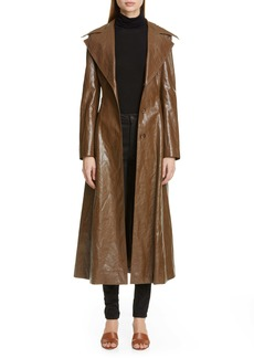 Rejina Pyo Rhea Faux Leather Trench Coat