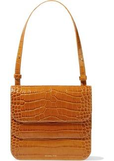 Rejina Pyo Woman Ana Croc-effect Leather Shoulder Bag Tan