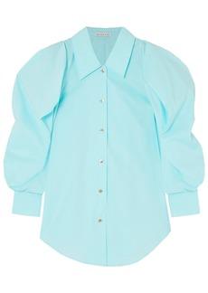 Rejina Pyo Woman Julia Oversized Cotton-blend Poplin Shirt Sky Blue