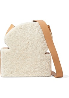 Rejina Pyo Woman Toastie Shearling And Leather Shoulder Bag Ivory