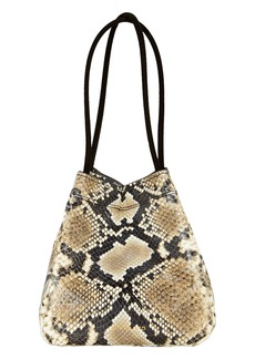 Rejina Pyo Rita Triangle Snake-Embossed Bag
