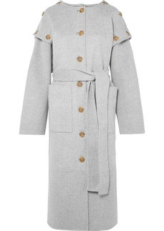 Rejina Pyo Simone Button-detailed Wool-blend Felt Coat