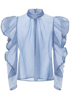 Rejina Pyo Sofia Ruffled Turtleneck Shirt