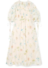 Rejina Pyo Tia Embroidered Cotton-blend Organza Midi Dress