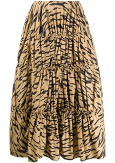 Rejina Pyo tiered tiger print skirt