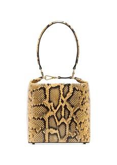 Rejina Pyo Lucie snake-effect box bag