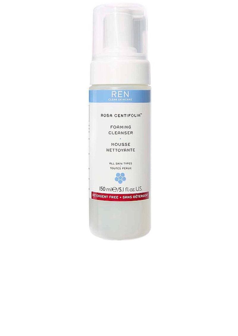 REN Clean Skincare Rosa Centifolia Foaming Cleanser.
