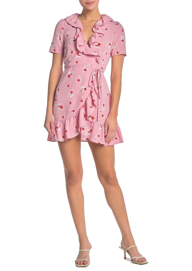 re:named Brenda Floral Wrap Dress