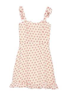 re:named Danna Floral Tie Strap Mini Dress