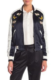 re:named Embroidered Bomber Jacket