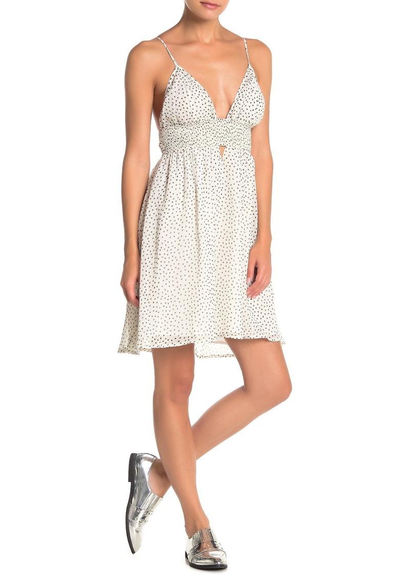 re:named Irresistible V-neck Smocked Dress