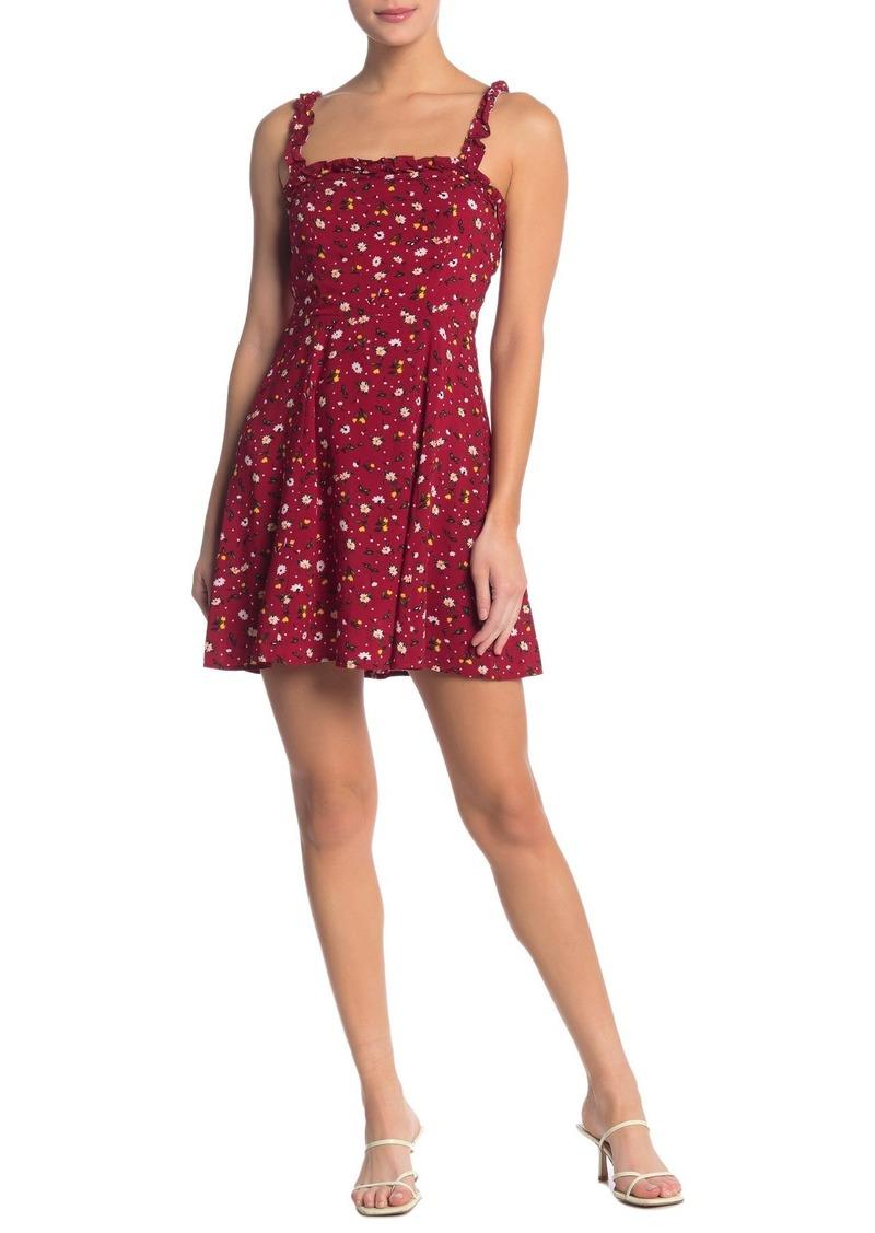 re:named Izzy Ruffle Mini Dress