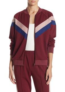 re:named Jenna Stripe Track Jacket
