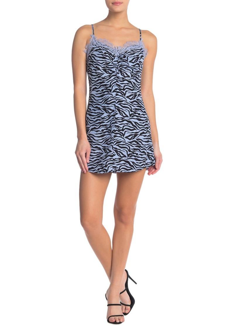 re:named Neha Leopard Print Dress
