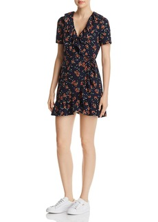 Re:Named Cassandra Floral-Print Mini Wrap Dress