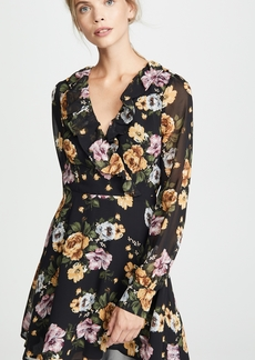 re:named Floral Long Sleeve Dress