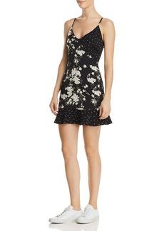 Re:Named Geelia Mixed-Print Mini Dress