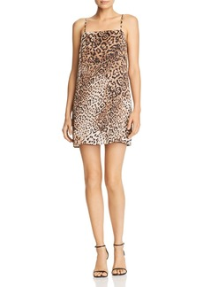 Re:Named Leopard-Print Mini Dress