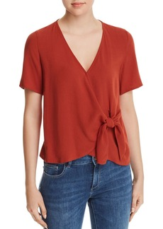 Re:Named Margot Knot-Front Wrap Top