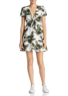 Re:Named Paradise Tropical Print A-Line Mini Dress