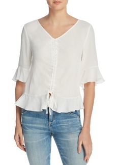 Re:Named Ruched Ruffled Top