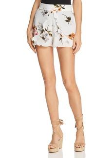 Re:Named Ruffled Floral Mini Shorts