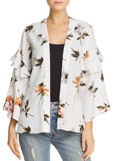 Re:Named Ruffled Floral-Print Kimono