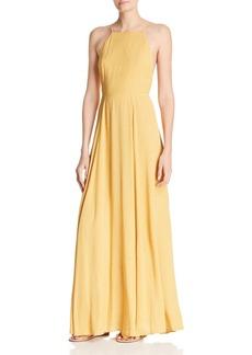 Re:Named Vanessa Dot-Print Maxi Dress